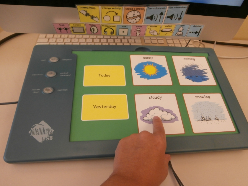 IntelliKeys Adaptive Keyboard with Weather Overlay from AbleNet's Classroom Suite