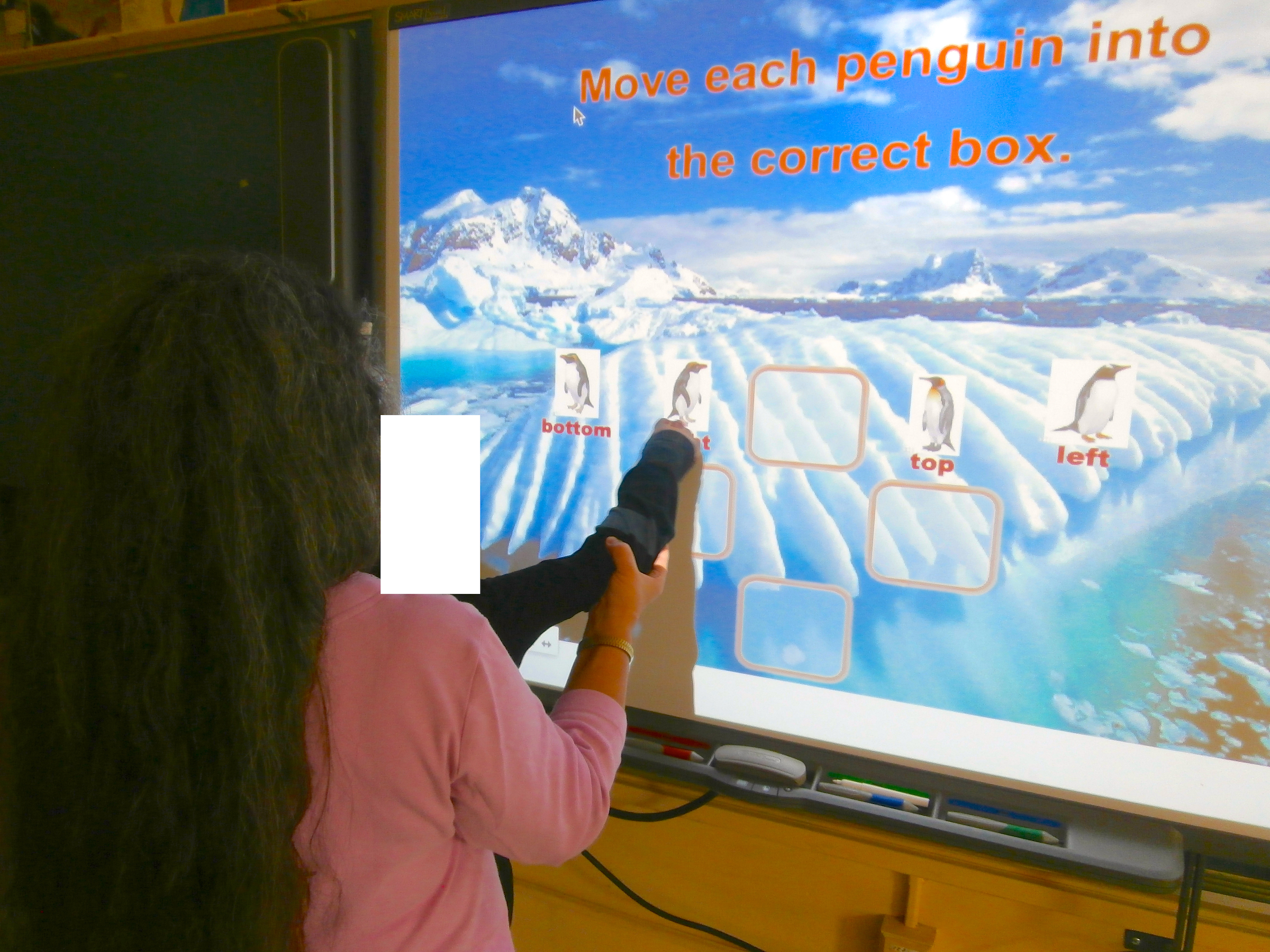 Assisting Student B with an Interactive Whiteboard Activity Created by Jeanne Stork
