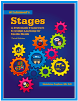 This is a picture of the cover to Madalaine Pugliese's STAGES book.