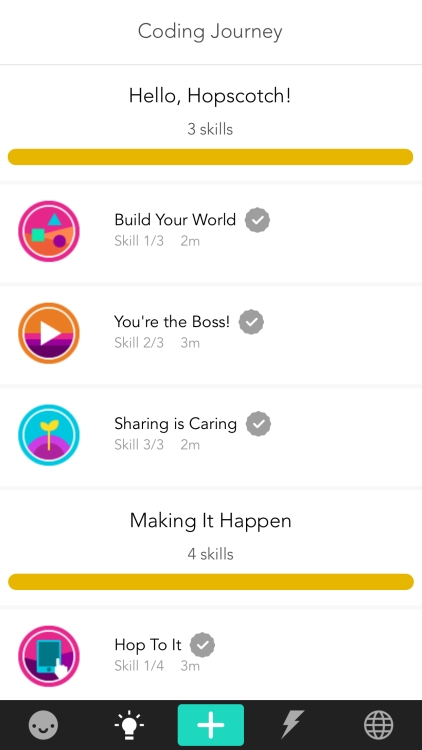 activity titles include build your world, you're the best, and sharing is caring